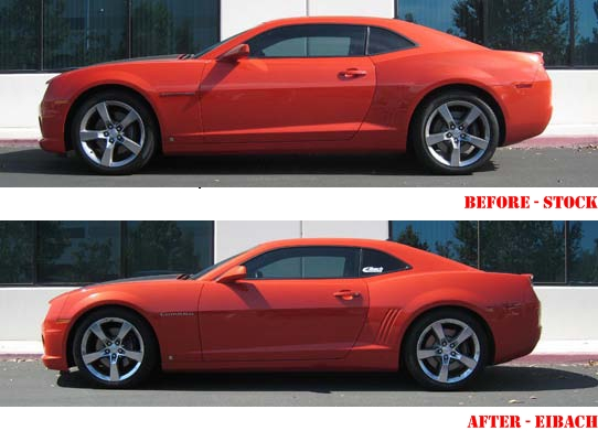 Pro-Kit-Springs-2010 Camaro Pro Kit Springs-Camaro-Before-After