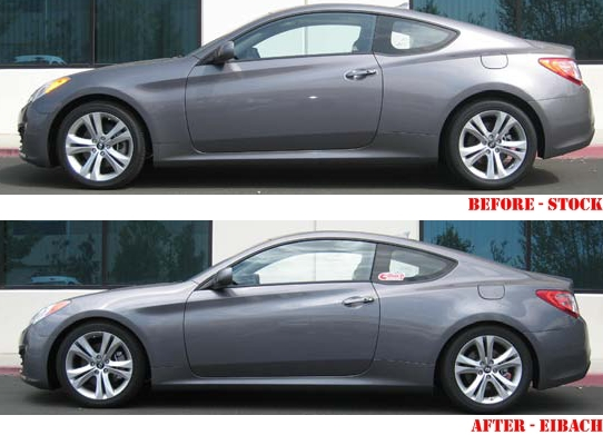 Hyundai-Genesis-Eibach-Sportline-Before-After