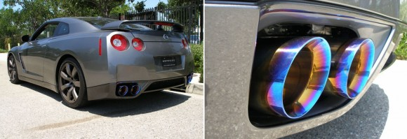 T70146-Installed-Nissan GT-R Medalion Touring Exhaust